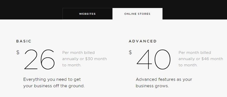 Squarespace pricing business