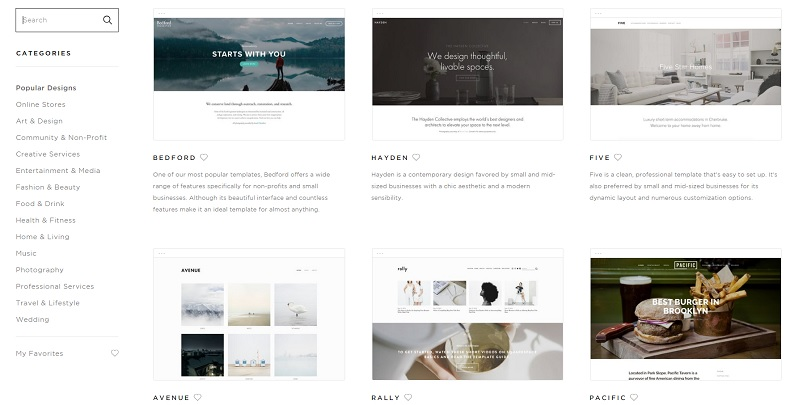 Squarespace design
